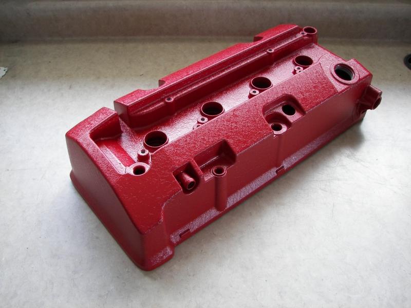 Honda S2000 cam cover red wrinkle