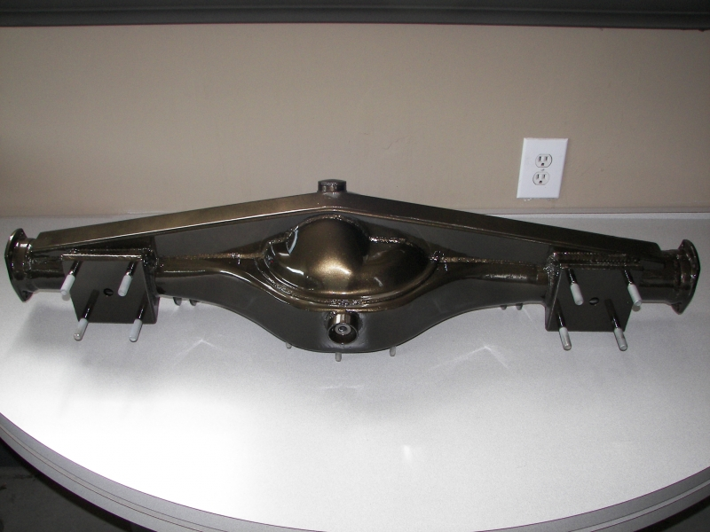 Fabricated rear end in Bronze metalflake with gloss clear