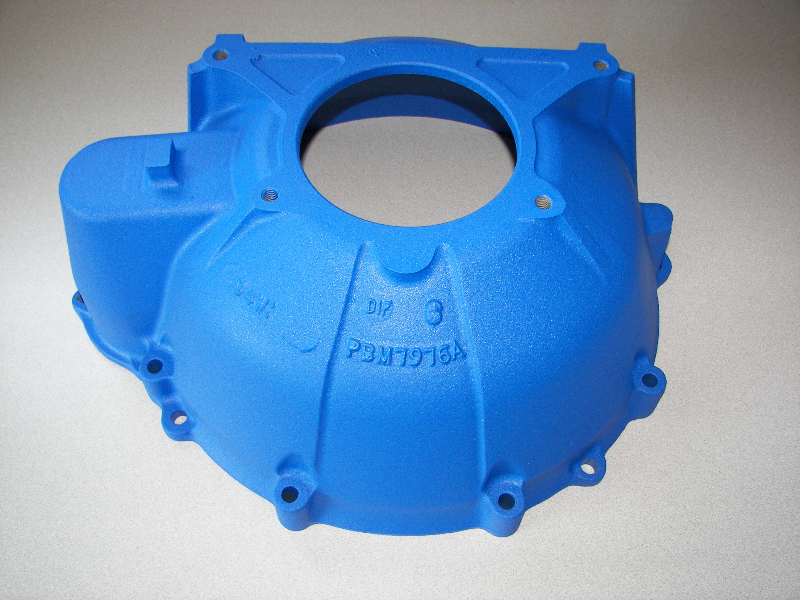 Bell housing in Ford textured blue