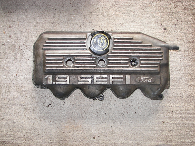 Ford cam cover fresh off the engine