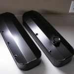 Fabricated valve covers - semi gloss black