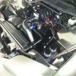 radiator and intake tubes - black chrome with clear