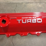 Dodge 2.2 turbo cam cover Wet red over chrome powder