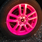 Lindsey's Neon Pink. Can you say BRIGHT!!!!!!