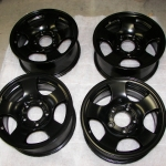 Satin Black Ford truck wheels
