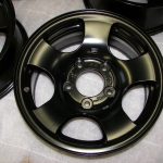 Satin Black Ford truck wheel
