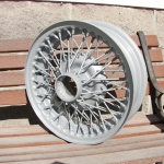 Sunbeam Alpine wire wheels in Wheel Silver
