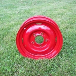 '52 Studebaker truck wheels in Blood Red