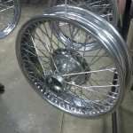 '48 Jaguar wire wheels in Chrome powder