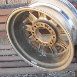 Truck wheels in terrible condition. Peeling chrome and corrosion