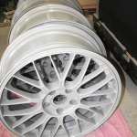 clear coated bare aluminum wheels
