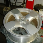Stock silver Nissan Pathfinder wheels