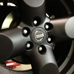 Stock Nissan Pathfinder wheels in Matte black!