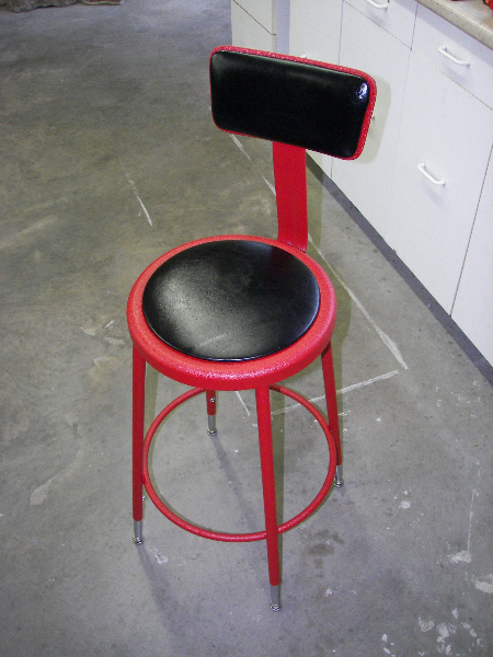 Red wrinkle and black seat covers