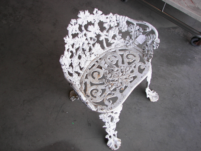 80 year old cast iron chair needing blasted and powder coated