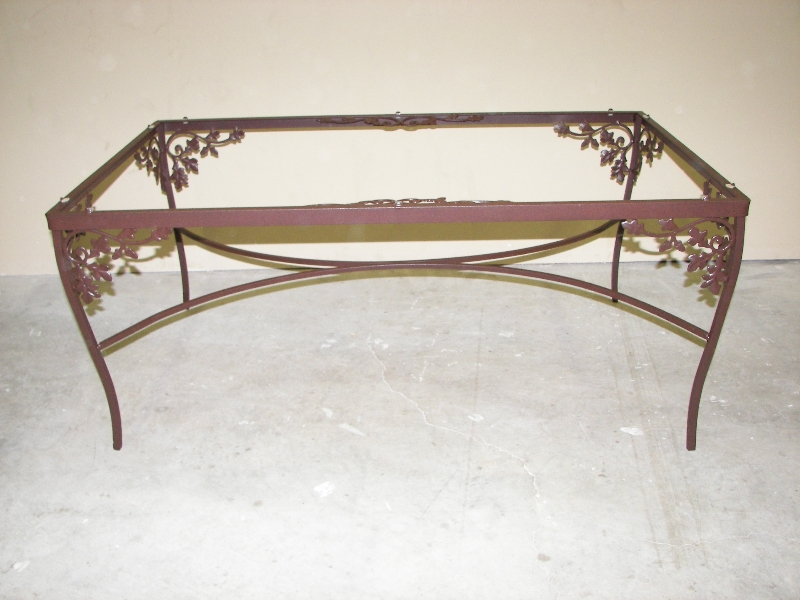 Patio furniture in brown rust leatherette