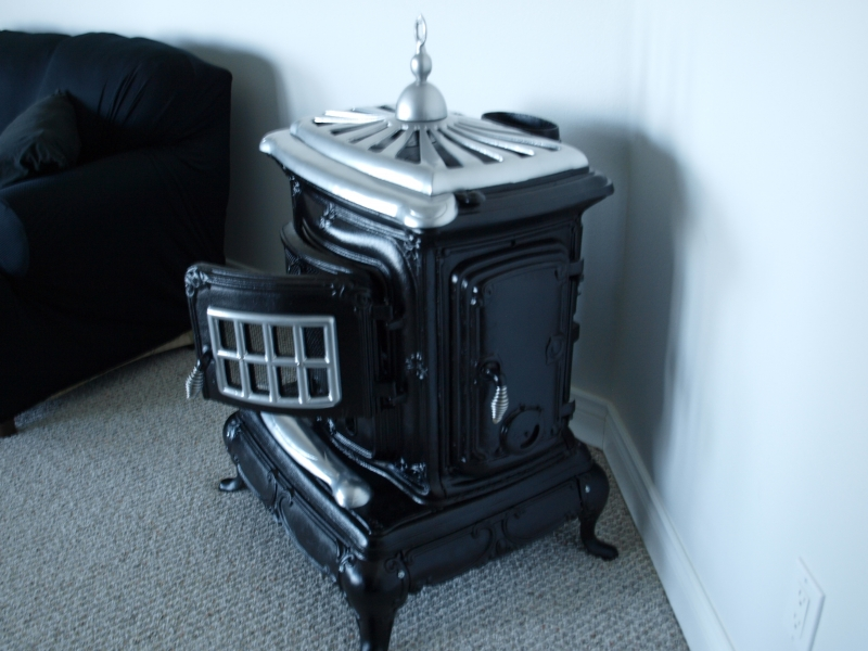 Stove after Black Ceramic and Chrome powder finish