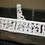 Porch ironwork after powder coating