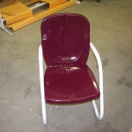 Bunting chair in HD Burgundy and Ivory white