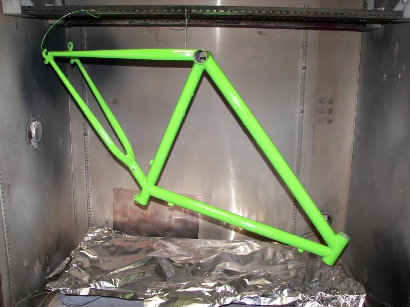 Kawasaki green bike frame