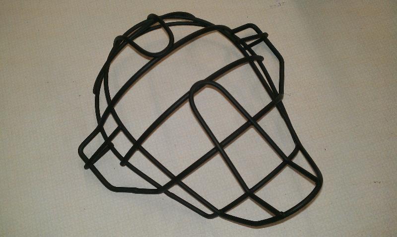 Titanium catchers mask-satin black