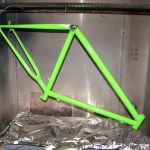 Kawasaki green bike frame