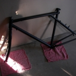Satin black frame and forks
