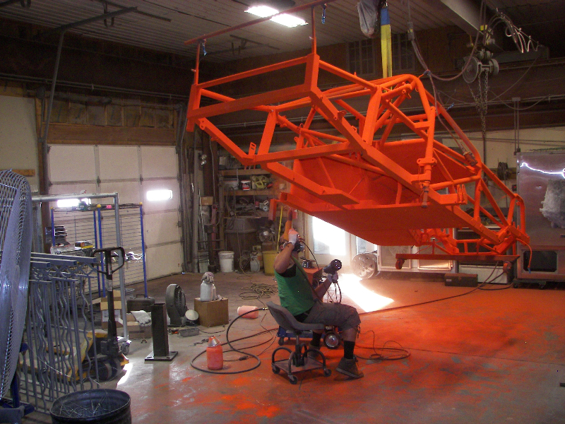 powder coating late model chassis