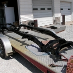 1956 DeSoto car frame powder coated black