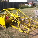 Late model super modified chassis to be powder coated