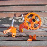 YZF-450 parts in orange & silver metalflake