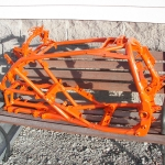 YZF-450 - Orange with silver metalflake and wet clear! Stunning to see!