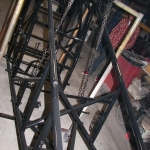 Sprint car chassis powder coated black