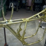 Honda frame in gold