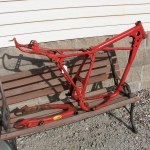 1976 Honda dirt bike frame & swingarm
