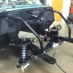 Subframe and control arms - Satin black (semi-gloss)