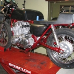 Honda CB750 being rebuilt
