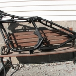 Matte Black motorcycle frame