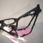 Satin black bike frame