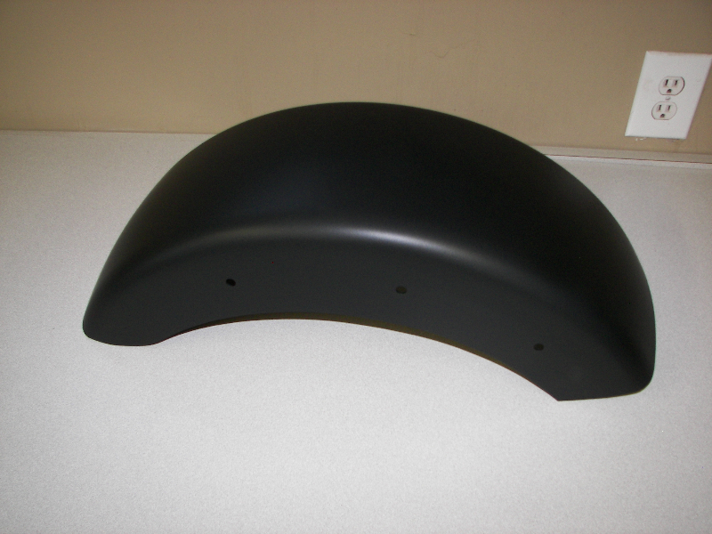 Harley fender in Satin Black