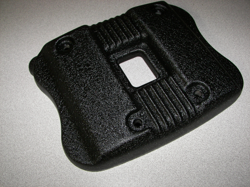 Harley cam cover in HD black wrinkle