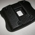 Harley cam cover in HD black wrinkle