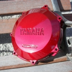 Yamaha engine parts - candy red over silver metal flake