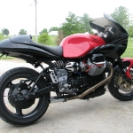 Moto Guzzi before we did the cam covers and swingarm plates