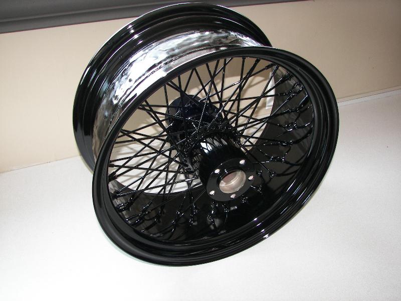 Huge 8 1/2 in rear Harley wheel. 70 lbs!