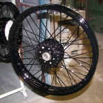 Vintage spoke wheel - Gloss black