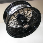 Huge 8 1/2 in rear Harley wheel. 70 lbs!