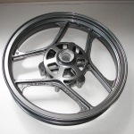 A 250 Ninja wheel in bonded black chrome