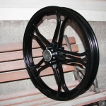 Yamaha 550 front wheel - satin black