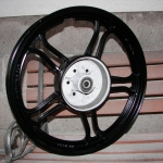 Yamaha 550 rear wheel - Satin black